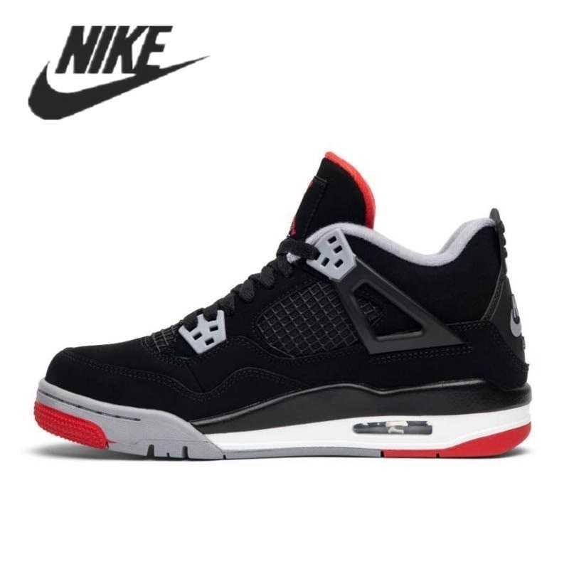 -Zapatillas Nike Air Jordan 4, originales, Retro, guaba, hielo, vela negra, globo...