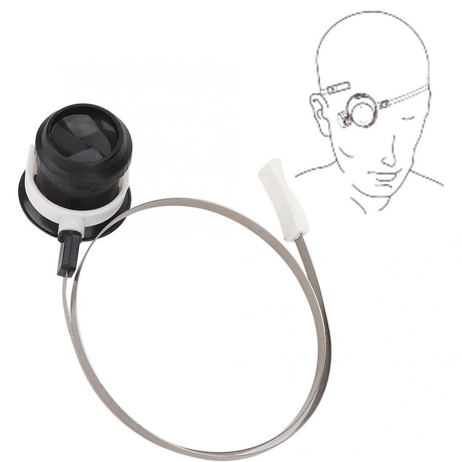 5X lupa de ojo herramienta de joyería reloj lupa lente accesorio de reparación de reloj con correa de cabeza herramienta de reloj para relojero