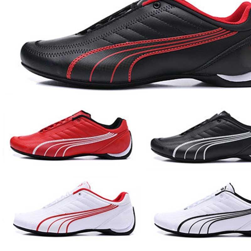 2021 clássico pumaes ferraring drift cat 5 sneaker primeira camada de couro sapatos de corrida homem casual sapatos esportivos confortáveis