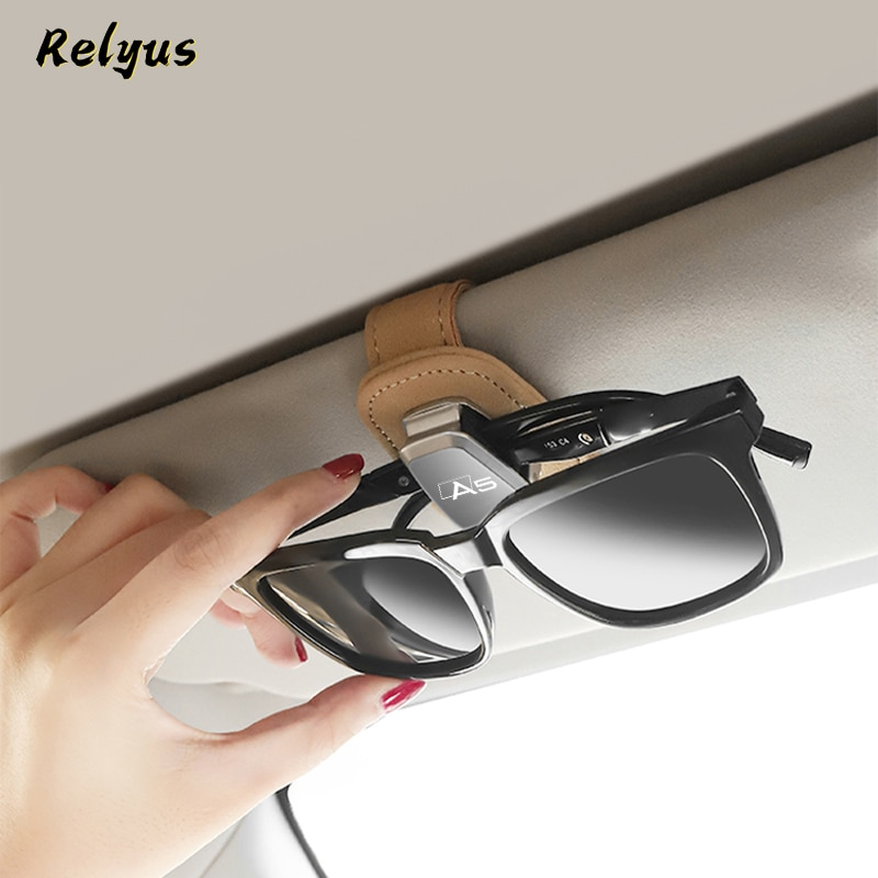 Замшевый автомобильный солнцезащитный козырек, держатель для солнцезащитных очков, держатель для очков, зажим для хранения билета для Audi A5 ...
