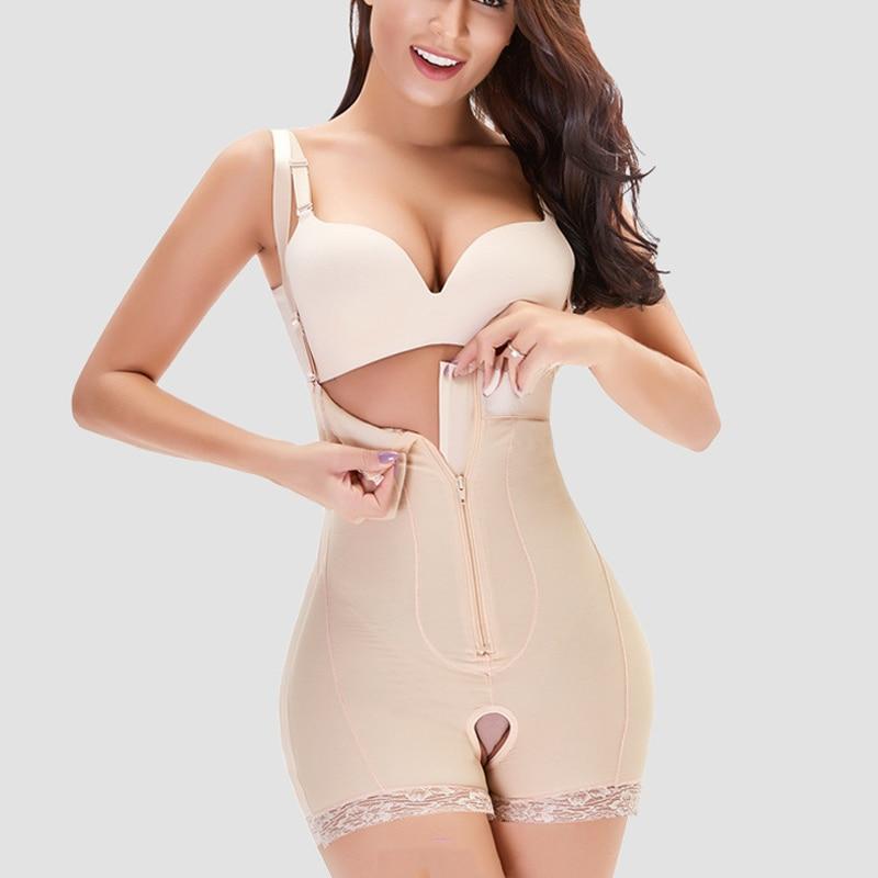 ملابس عالية الضغط ارتداءها ضيق الخصر التدريب Fajas كولومبي بعد الولادة حزام محدد شكل الجسم للنساء