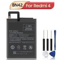 bn42 phone battery for xiaomi redmi 4 hongmi4 redrice standard edition phone batteries 4000mah