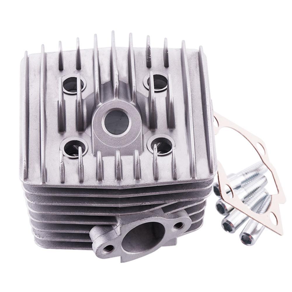 47mm motor motorizado a gás do cilindro do motor de gás do corpo 2 tempos para 66cc/80cc bicicleta motorizada