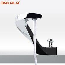 BAKALA modern washbasin design Bathroom faucet mixer waterfall  Hot and Cold Water taps for basin of bathroom F8151-1