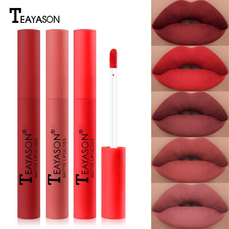 12 Colors Sexy Matte Lip Glaze Lip Gloss Long Lasting Liquid Lipstick Waterproof Cosmetic Batom Matte Lip Tint Lip Makeup TSLM2