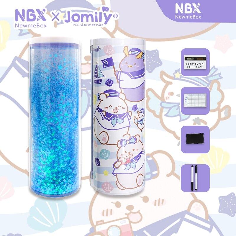 NewmeBox Arena movediza estuche escolar Nuevo Linda Animal estuche lapices Kawaii Gata pencil case Con calculadora Nbx Lentejuelas estuches para lápices