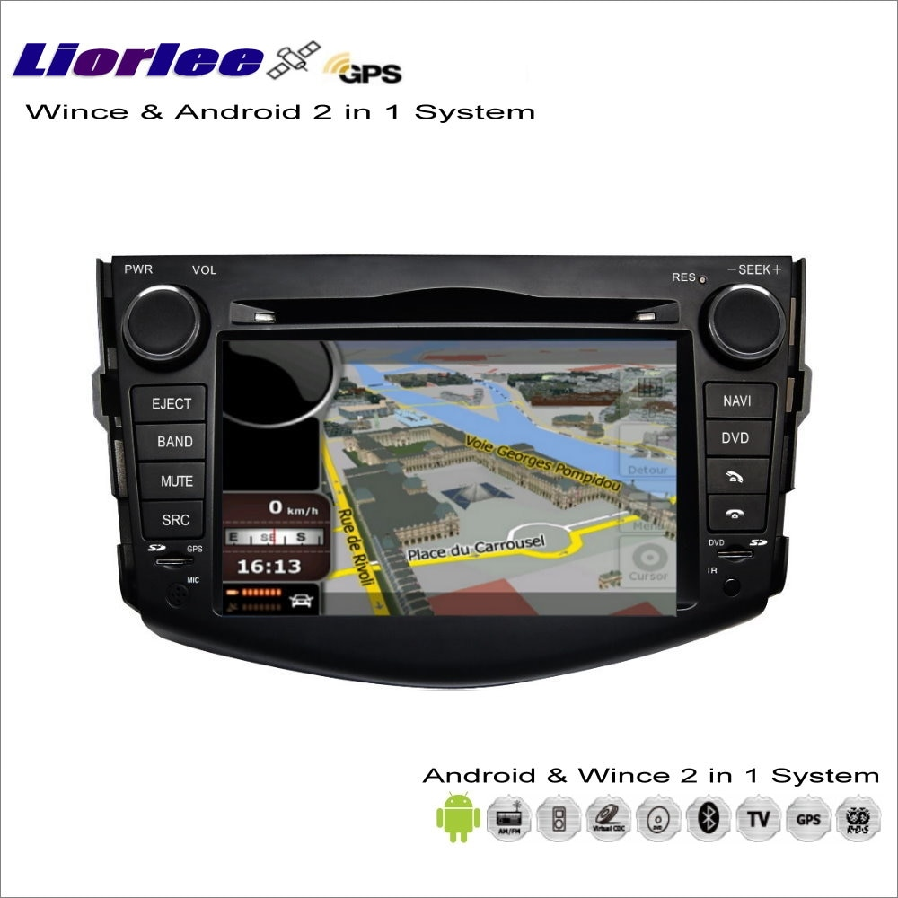 Liorlee para Toyota RAV4/vanguardia 2005-2012 coche Multimedia Android Radio CD DVD Player GPS Navi navegación de Video de Audio estéreo
