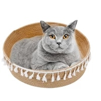 1 piece four season universal cat scratching bed fashion round cats sleeping bed kitten beds couch basket nest pet cat supplies