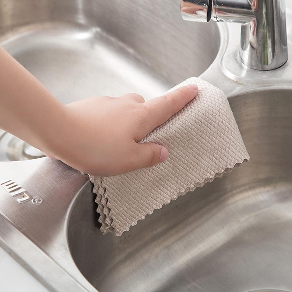 Wipe Glass Fish Scale Cloth Cleaning Soft Durable Water-absorbing Kitchen Degreasing Cleaning Cloth Stove Sink Car Hot Selling enlarge