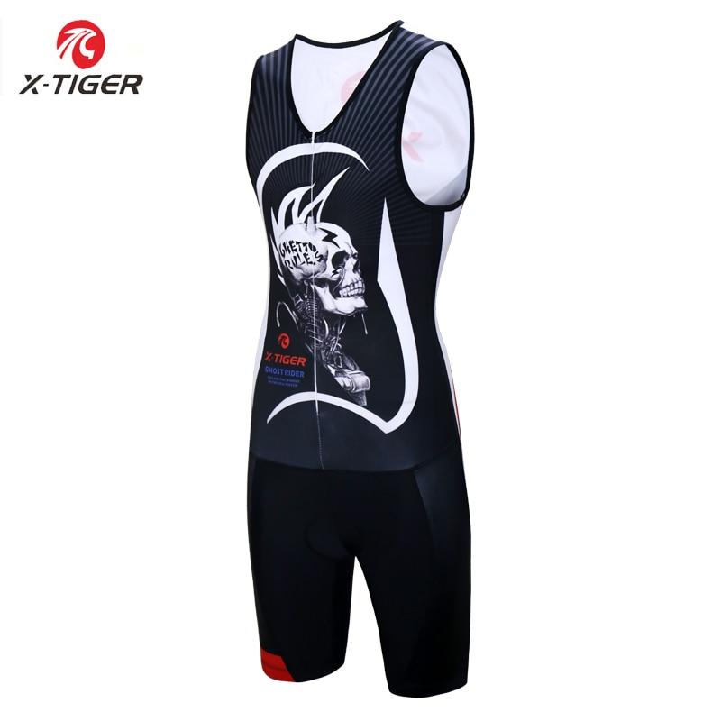 X-tiger 2020 triatlón ciclismo Jersey sin mangas Skinsuit bicicleta ciclismo ropa Pro Anti-Pilling ciclismo ropa para hombres