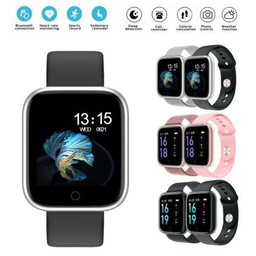 Nuevo reloj inteligente, rastreador de actividad física, medición de ritmo cardíaco y presión arterial, pulsera inteligente para mujer y hombre para Fitbit Android IOS