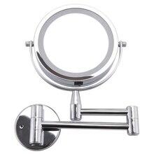 ABVP miroir de bain miroir cosmétique Led 1X/3X grossissement mural miroir de maquillage réglable double bras étendre 2-Face salle de bain M