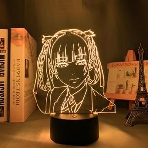 Kakegurui Compulsive Gambler Kirari Momobami Led Night Light for Bedroom Decor Birthday Gift Anime 3d Lamp Anime Decor