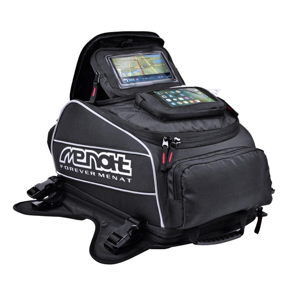 CUCYMA Menat, bolsas magnéticas de tanque de combustible para motocicletas, mochila para casco de motocicleta, motocicleta, Motocross, equipaje de viaje, bolsas GPS para teléfono