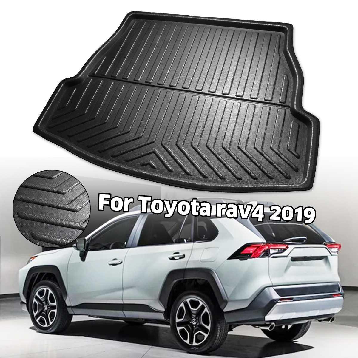 Cubierta de la bandeja de maletero del maletero alfombra mate alfombra de piso almohadilla de patada para Toyota RAV4 2019 2020 XA50
