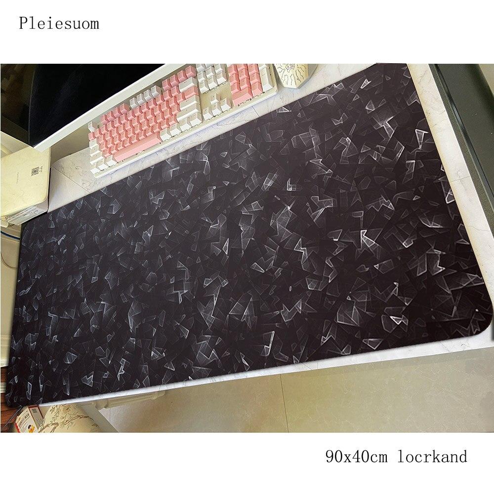 Preto abstrato padmouse acessório para computador 900x400mm mouse almofada de pulso descanso gaming enterprise tapetes borracha teclado grande tapete do mouse gamer