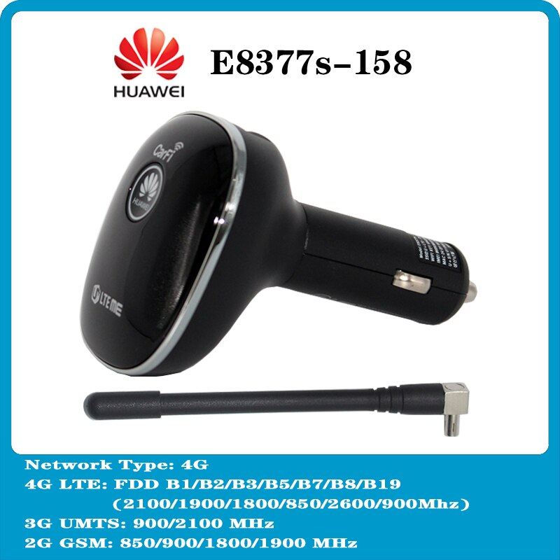 هواوي جديد 4G مودم E8377 E8377s-158 زائد هوائي 4G LTE Carfi هوت سبوت واي فاي دونغل مع دعم بطاقة Sim 800/1800/2100/2600