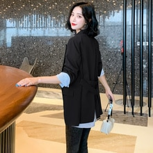 High-End Plaid Stitching Suit Jacket Autumn New 2021all-Matching Design Leisure Suit Women's Top