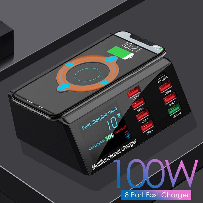 100w-multi-port-wireless-charger-8-usb-qc3-0-fast-charging-adapter-hub-led-digital-display-desktop-charge-station-for-iphone-12