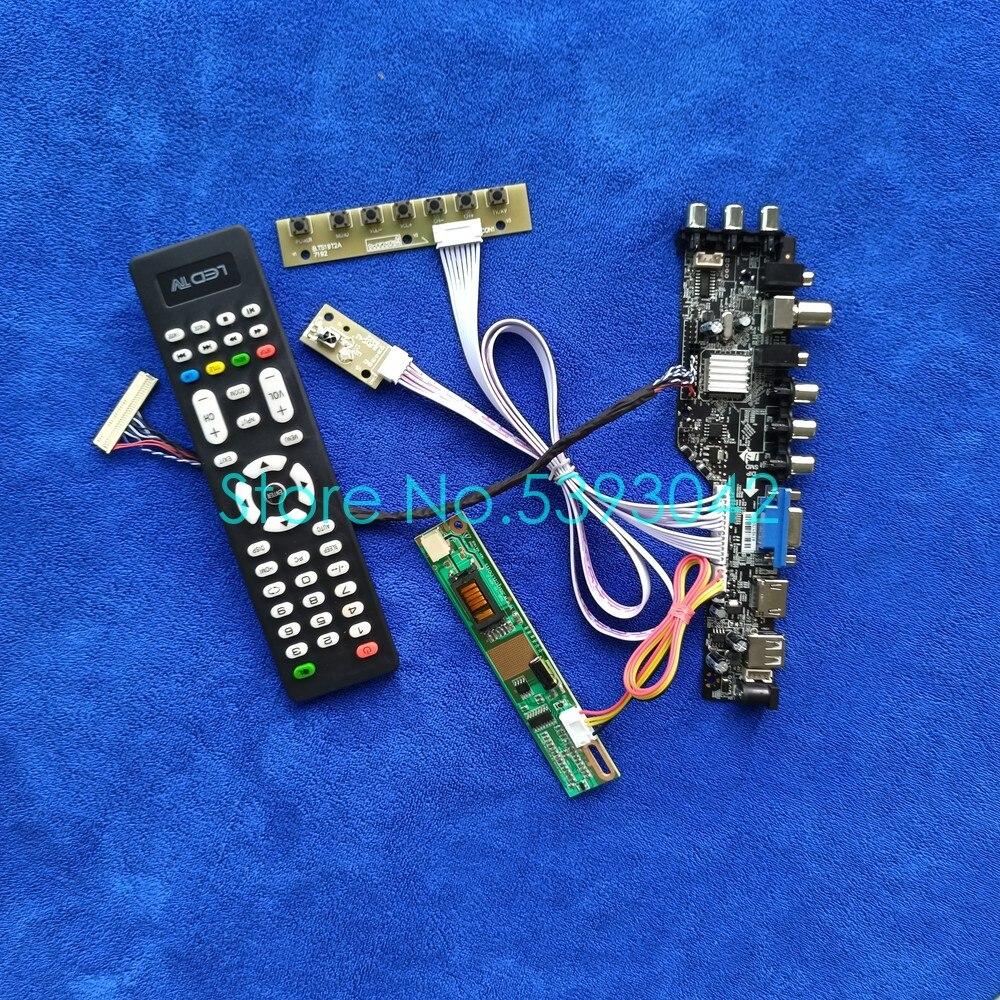 ل B154EW04 V.0/V.1/V.2/V.3/V.4/V.5/V.6/V.7/V.8/V.9/V.B DVB 3663 الرقمية 1CCFL 1280*800 USB + LVDS 30Pin بطاقة وحدة التحكم عدة