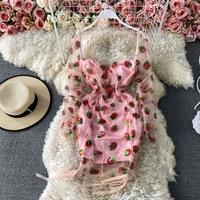 Клубничное платье