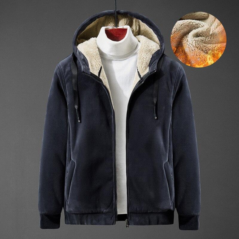 Зимняя мужская куртка плюс Вельветовая утепленная кашемировая куртка с капюшоном мужская брендовая Качественная мужская куртка модная ку...
