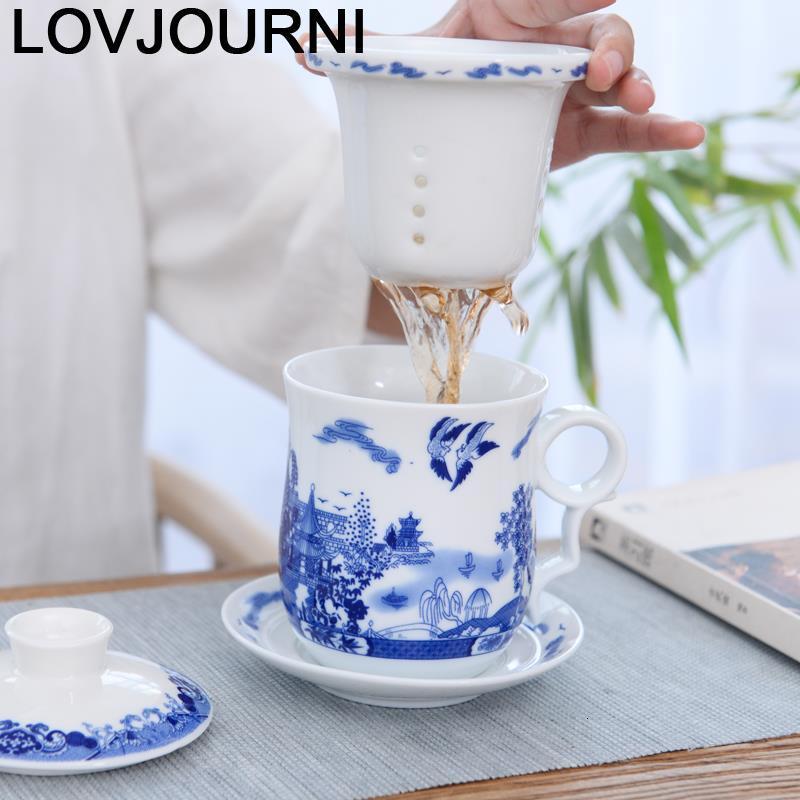 Gran té café Vajilla vasos Copo E Vajilla Tazzine café lindo Criativa Xicara de cerámica de café copa de Caneca y taza