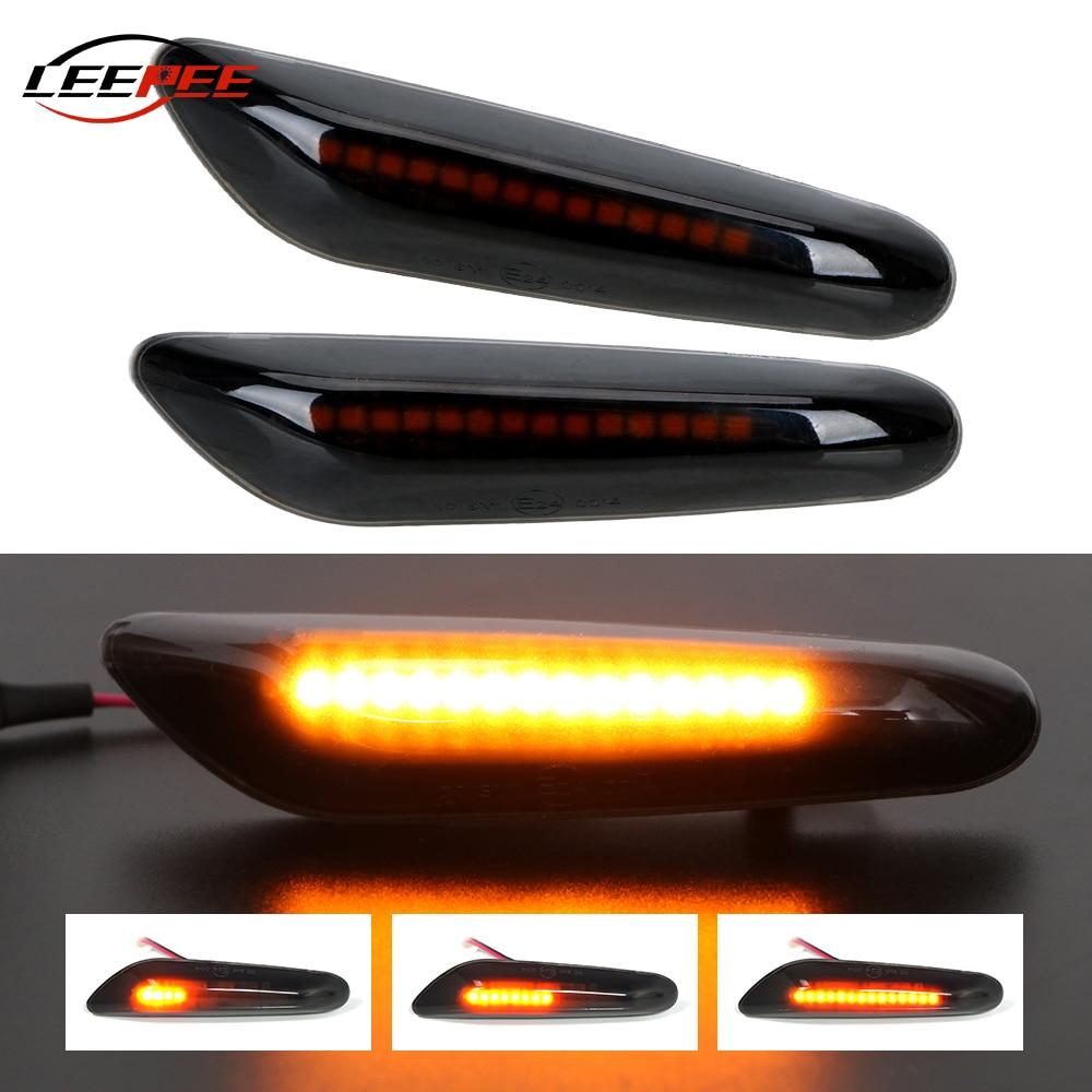 12V Flashing Car Turn Signal Lights Lateral Side Marker Lamps LED Strobe Indicator Accessories For BMW E90 E91 E92 E60 E87 E46