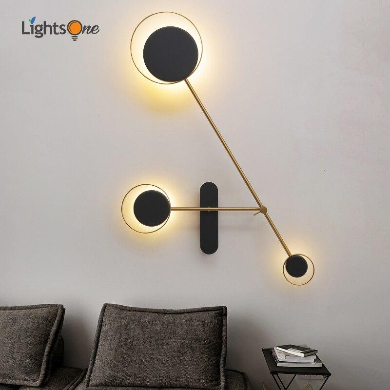 غرفة المعيشة حائط الخلفية ديكور الإضاءة الإبداعية شخصية الدرج الممر الجدار مصباح