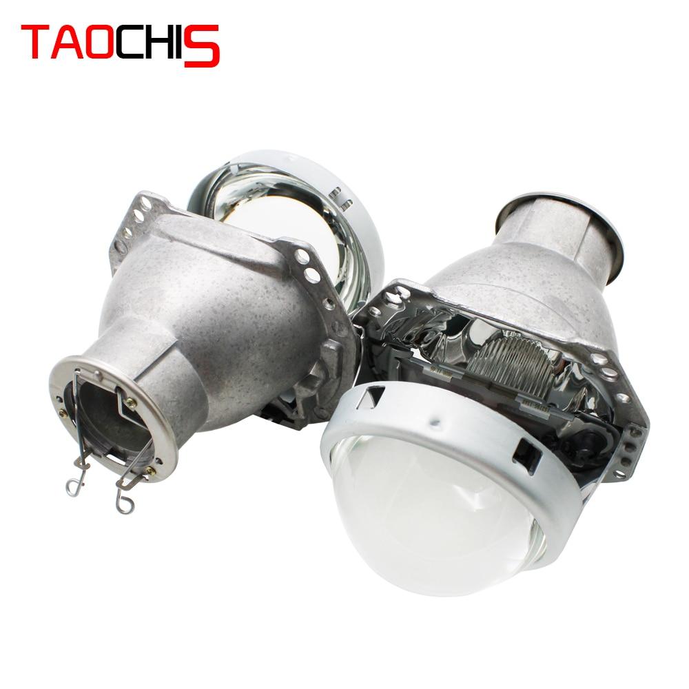 TAOCHIS 3.0 بوصة رئيس ضوء التحديثية هيلا 3R G5 عدسة إسقاط ثنائية الزينون باستخدام H7 الهالوجين العارض زينون LED مصابيح
