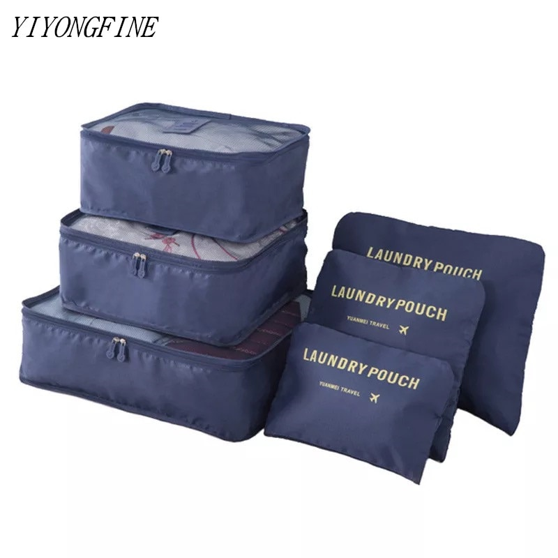 Multifunction 6pcs Travel Bags Waterproof Clothes Storage Luggage Organizer Pouch Packing Cube Men And Women Travel Storage Bag etya cute travel bags cosmetic bag multifunction men and women pvc luggage packing organizer large capacity clothes wash pouch
