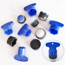 1 ensemble amical en plastique 16.5-24mm filetage économie deau robinet aérateur bulle cuisine salle de bain robinet accessoires