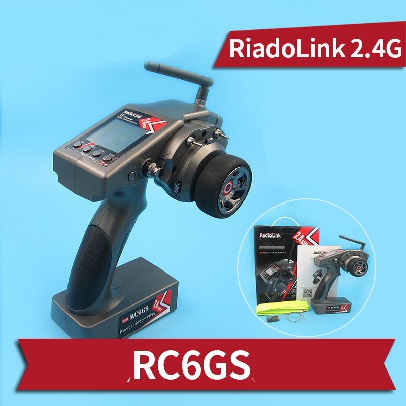 1Set 2S-4S Lipo RC6GS Remote Control Kit 6CH 2.4Ghz Gyroscope Six Channels Transmitter+RF7G RF6G Receiver Module for RC Boats