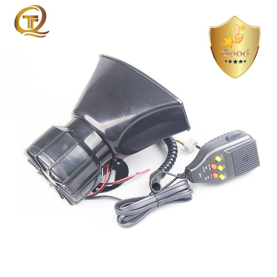 Coche Universal de 12V Amplificador megáfono sirena de policía sonido cuerno 24V...