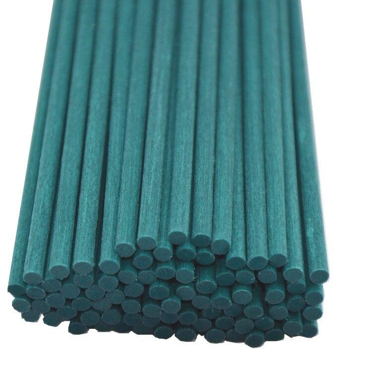 100 pçs 22cm x 3mm azul fibra reed varas óleo essencial rattan difusor substituição recarga varas para o refrogerador de ar do carro