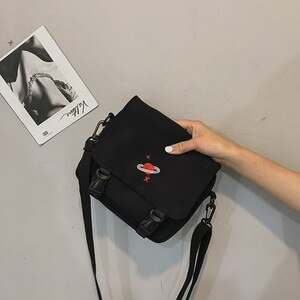 Women's Canvas Handbag 2019 New Style Cute Embroidered WOMEN'S Cross-body Bag Korean Versatile Shoulder Small Cloth Bag #45