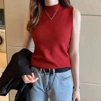 summer slim render short t shirt sexy women sleeveless o neck croptops tank tops solid multi color crop vest tops wholesale