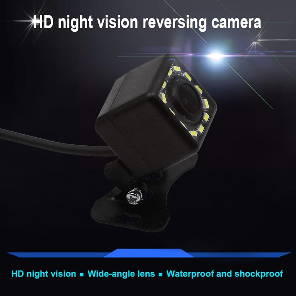 8 LED IR visión nocturna vista trasera de coche Cámara gran angular HD Color imagen impermeable Universal Backup cámara de estacionamiento marcha atrás