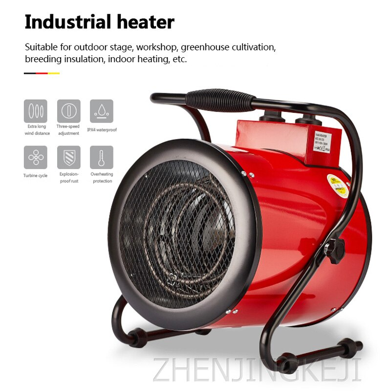 3kw Industrial Electric Heaters High-Power Electric Hheaters Heaters Drying Culture Heating enlarge