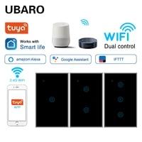Ubaro NOUS Verre Trempe Standard Tuya Smart Wi-Fi Domestique Commutateur Google Assistant Vocal Alexa Controle App Telecommande Ac100-240V