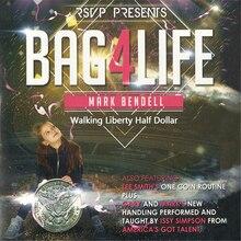 Bag4Life – 1 pièce de monnaie demi-Dollar et DVD, tours de magie, tours de magie, de scène, de mentalisme, dillusion, accessoires Gimmick