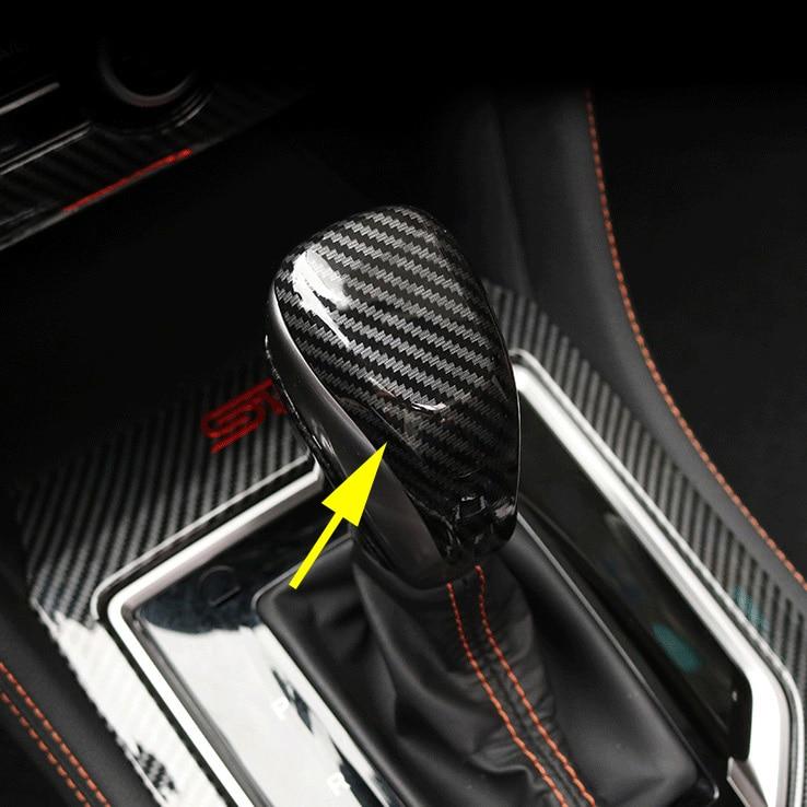 Крышка рычага переключения передач из углеродного волокна для Subaru Crosstrek XV 2018 + Forester SK 2019 +