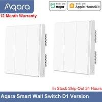 Aqara commutateur mural intelligent D1 sans fil APP telecommande 1 2 3 bouton interrupteur mural travail a domicile intelligent Mijia APP Apple HomeKit