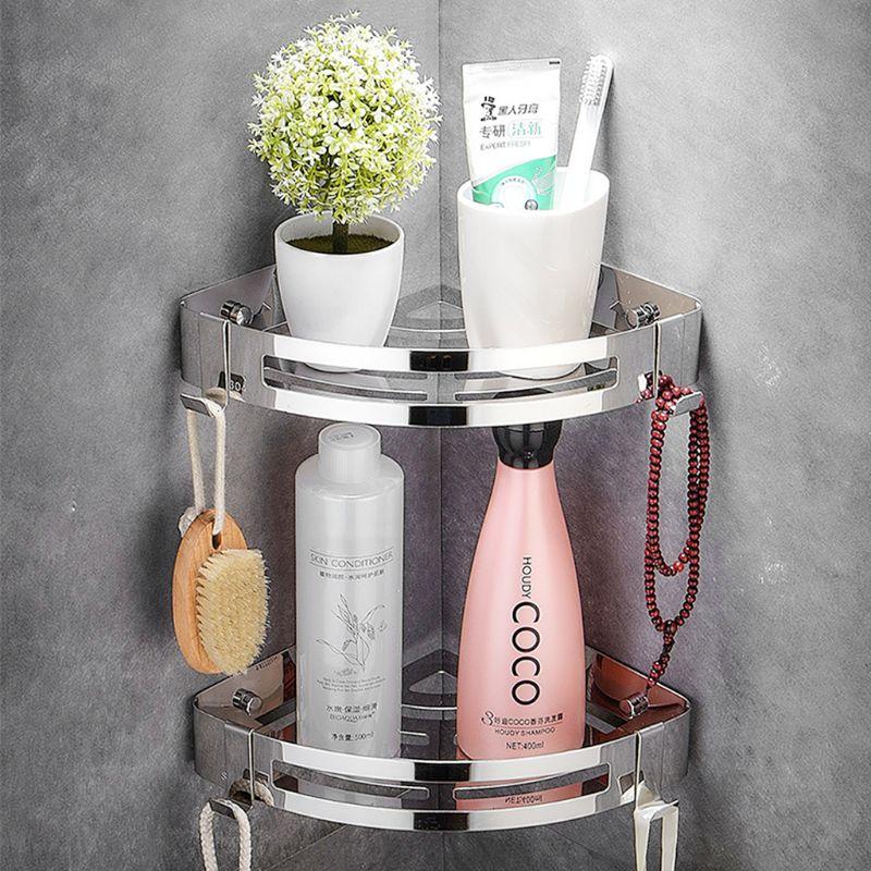 Punch-Free 304 Stainless Steel Triangle Basket Bathroom Shelf Suction Wall Wall-Mounted Bathroom Toilet Storage Shower Shelf