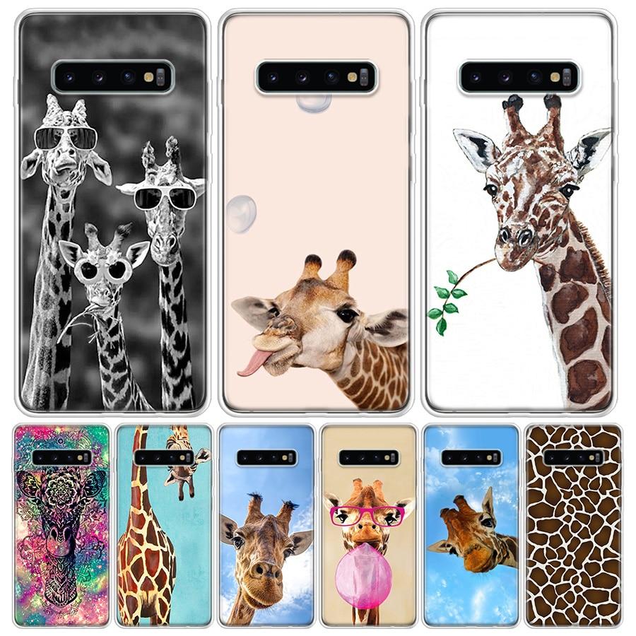 Bonita funda de móvil de jirafa para Samsung Galaxy A50, A70, A30S, A51, A71, A10, A20E, A40, A90, A20S, M30S, A6, A7, A8, A9 Plus