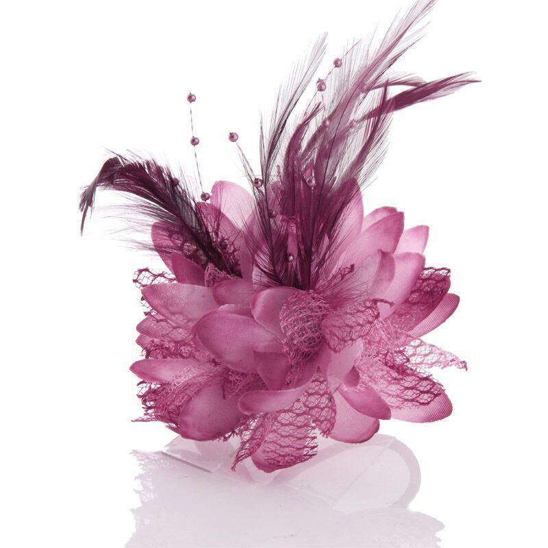 Broches de loto de alta calidad, broches de tela, alfileres de flores, accesorios para el cabello, accesorios para el cabello para niñas, pin de decoración del Festival