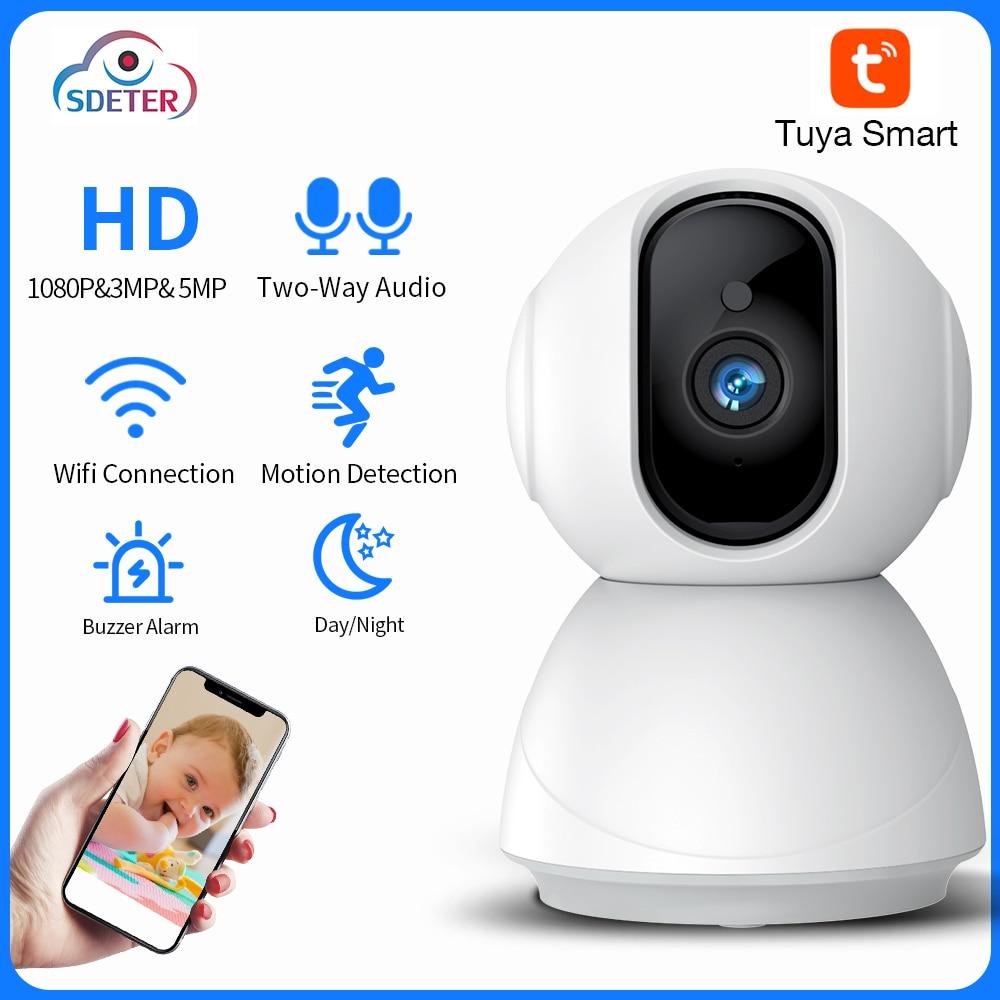 SDETER تويا 5MP 3MP 1080P كاميرا Wifi IP اللاسلكي PTZ 8X تقريب رقمي مراقبة كاميرا AI الإنسان كشف الأمن كاميرا تلفزيونات الدوائر المغلقة