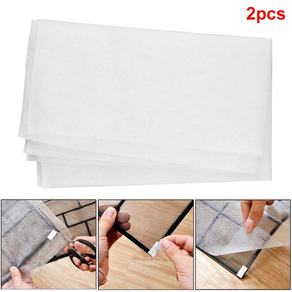 2 pçs/saco papéis para casa durável substituição líquido condicionado anti-poeira ar condicionado filtro de ar condicionado quarto malha escalável pano de limpeza