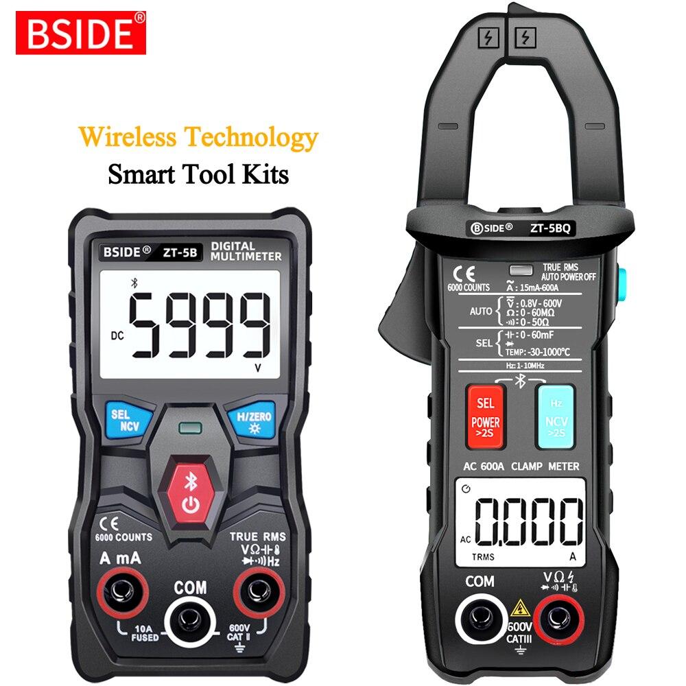 BSIDE رقمي متعدد التكنولوجيا اللاسلكية الذكية T-RMS الفولتميتر مقياس التيار الكهربائي السيارات رن التناظرية مكثف أوم NCV هرتز تستر DIY أداة