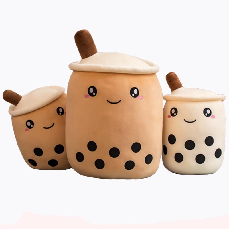 1 Uds gran perla té de la leche de peluche cojín en la vida Real de taza de té de juguete de felpa almohada juguetes de los niños regalo de cumpleaños